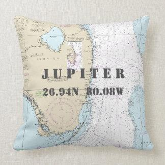 De zeevaart Lengte Jupiter, Florida van de Breedte Sierkussen