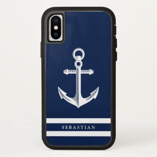 De zeevaart Marine van de Douane van het Anker iPhone X Hoesje