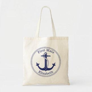 De zeevaart Marineblauwe Eerste Gepersonaliseerde Draagtas