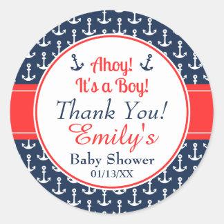 De zeevaart Stickers van het Baby shower - Jongen