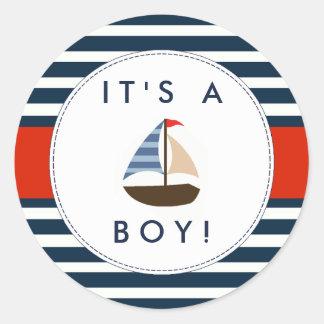 De zeevaart Stickers van het Baby shower van de