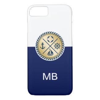De zeevaart Stijl van het Monogram iPhone 7 Hoesje