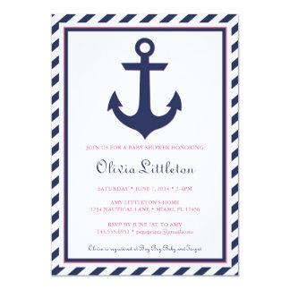 De zeevaart Uitnodiging van het Baby shower - Ahoy
