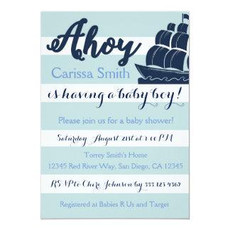 De zeevaart Uitnodiging van het Baby shower van de