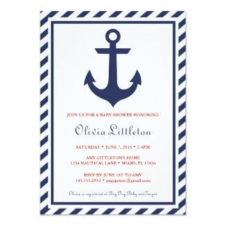 De zeevaart Uitnodigingen van het Baby shower -