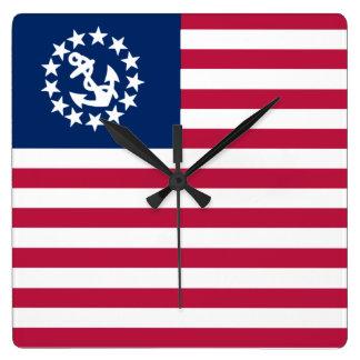 De zeevaart Varende Vlag van de V.S. Vierkante Klok