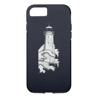 De zeevaart Vuurtoren van het Chroom op de Druk iPhone 7 Hoesje
