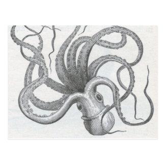 De zeevaart wijnoogst van de steampunkoctopus briefkaart