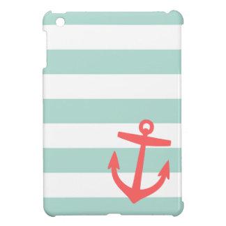 De ZeevaartStrepen van de munt & van het Koraal en Hoesje Voor iPad Mini