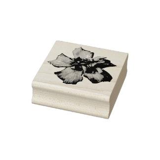 De Zegel van de Foto van de bloem Rubberenstempel