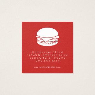 de zegel van de hamburgerloyaliteit vierkant visitekaartjes