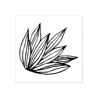 De Zegel van de Schets van Lotus Rubberenstempel