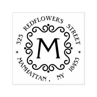 De Zegel van het Adres van het monogram Zelfinktende Stempel