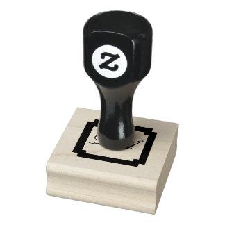 De Zegel van het monogram Rubberenstempel