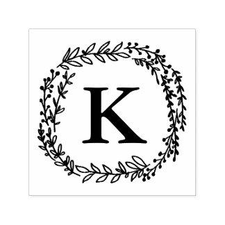 De Zegel van het Monogram van de lauwerkrans Zelfinktende Stempel