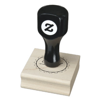 De Zegel van het Monogram van de zon Rubberenstempel
