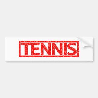 De Zegel van het tennis Bumpersticker