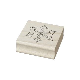 De Zegel van Kerstmis van sneeuwvlok Twee Rubberstempel