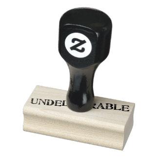 De Zegel van Undeliverable Rubberenstempel