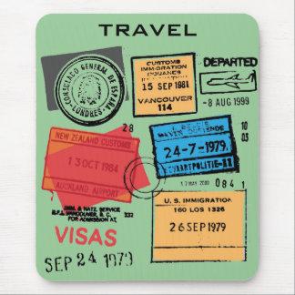 De Zegels Mousepad van het paspoort Muismat