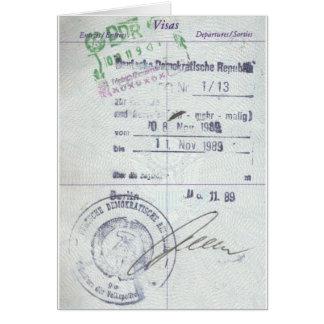 De Zegels van het visum & van de Ingang van Briefkaarten 0