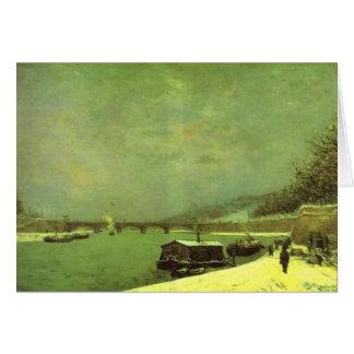 De zegen bij d'Iena Pont door Paul Gauguin Wenskaart