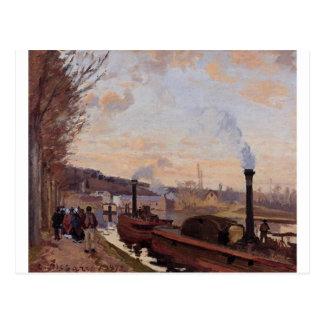 De zegen bij Haven Mergel door Camille Pissarro Briefkaart