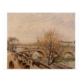 De zegen in Parijs, Pont Koninklijk door Camille Briefkaart