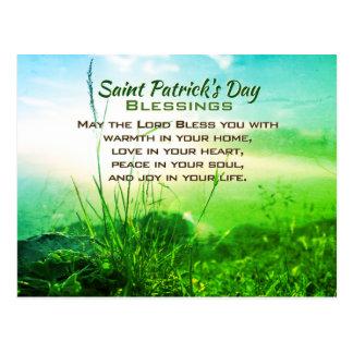 De Zegen van de Dag van heilige Patrick, Iers Briefkaart