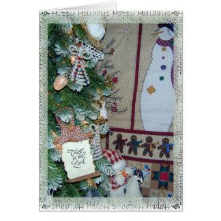 De Zegen van de kerstboom van Vreugde aan u Wenskaart