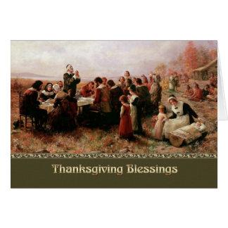 De Zegen van de Thanksgiving. De fijne Wenskaarten