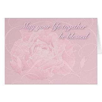 De Zegen van de Wensen van het huwelijk - Roze Kaart