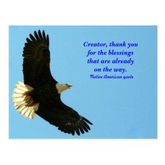De zegen van Eagle Briefkaart