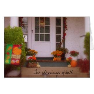 De zegen van Herfst ........ Wenskaart