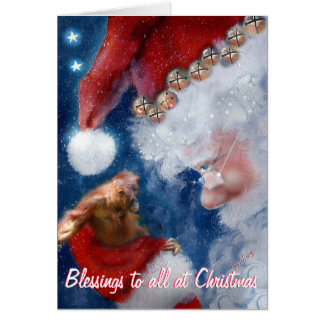 De Zegen van Kerstmis aan allen Briefkaarten 0