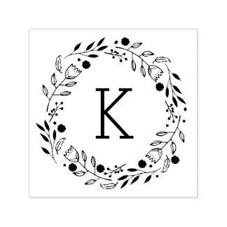 De zelf-Inkt Zegel van het Monogram van de Kroon Zelfinktende Stempel