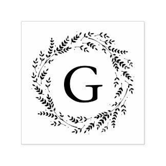 De zelf-Inkt Zegel van het rustieke Monogram van Zelfinktende Stempel