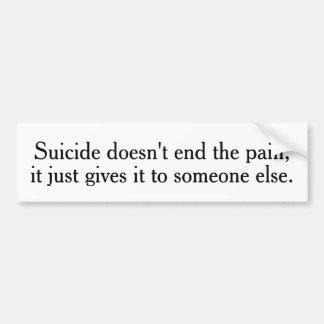 De zelfmoord beëindigt niet de Stickers van de