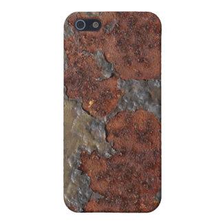 De zelfs in kuiltjes gemaakte textuur van de roest iPhone 5 covers
