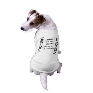 De ZENUWACHTIGE Tank van de Hond T-shirt