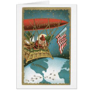 De Zeppelin van de kerstman - Amerikaans Kaart