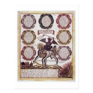 De zeven Dodelijke Zonden (gravure) Briefkaart