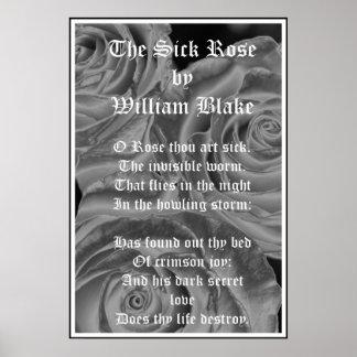 De zieken namen, William Blake, Gotische Rozen toe Poster