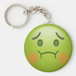De zieken nemen nota van Gezicht Emoji Sleutelhanger