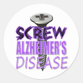 De Ziekte van Alzheimer van de schroef Ronde Sticker