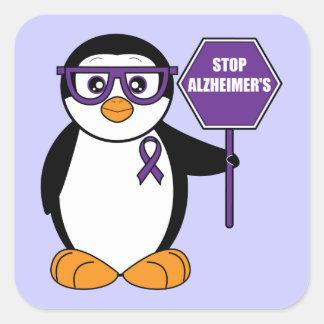 De Ziekte van Alzheimer van het einde: Pinguïn met Vierkante Sticker