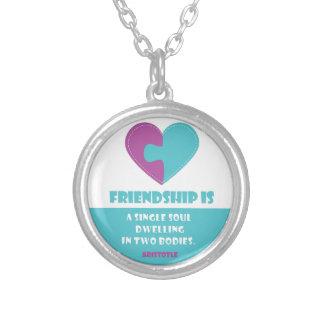 De ziel & het lichaam van de vriendschap om ketting rond hangertje