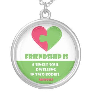 De ziel & het lichaam van de vriendschap om zilver vergulden ketting