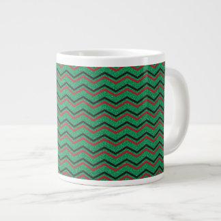 De Zigzag van de Vakantie van Glittery Grote Koffiekop