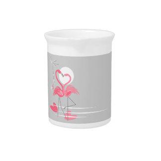 De Zijwaterkruik van de Liefde van de flamingo Pitcher